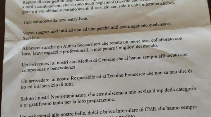 Lettera Salvatore Calabrese
